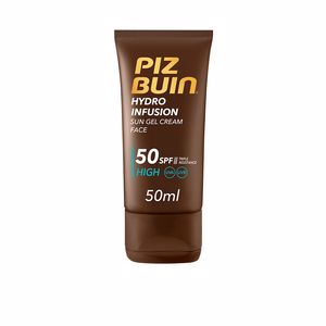 Faciais HYDRO INFUSION sun gel cream face SPF50 Piz Buin
