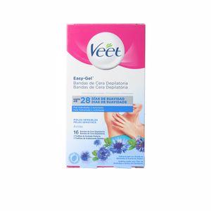 Hair removal wax BANDAS DE CERA axilas piel sensible Veet