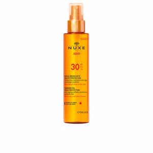 Body NUXE SUN huile bronzante haute protection SPF30 spray Nuxe