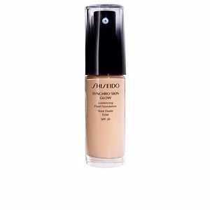 Foundation makeup SYNCHRO SKIN GLOW luminizing fluid foundation SPF20 Shiseido