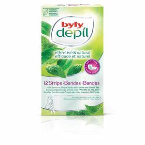 Hair removal wax DEPIL bandas corporales menta y té verde Byly