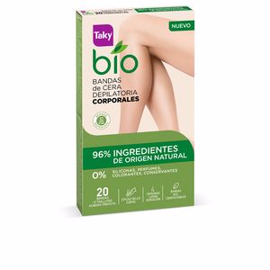 Hair removal wax BIO NATURAL 0% bandas de cera corporales depilatorias Taky