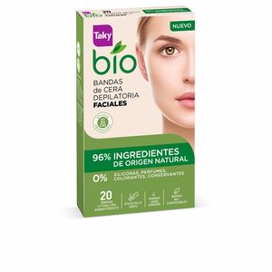 Hair removal wax BIO NATURAL 0% bandas de cera faciales depilatorias Taky