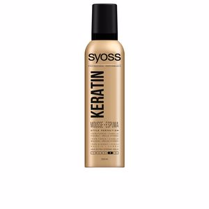 Producto de peinado KERATIN mousse flexible y brillo Syoss