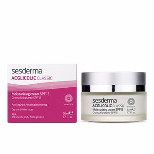 Anti aging cream & anti wrinkle treatment ACGLICOLIC classic crema hidratante SPF15 Sesderma