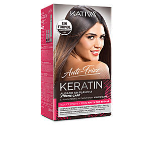 Hair straightening treatment KERATIN ANTI-FRIZZ alisado sin plancha xtrem care 30 días Kativa