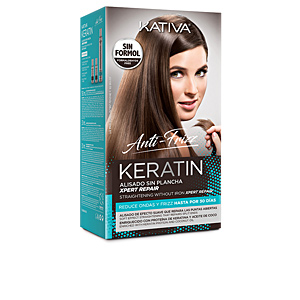 Hair straightening treatment KERATIN ANTI-FRIZZ alisado sin plancha repara puntas Kativa