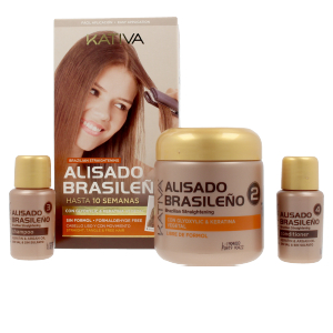 Hair gift set KATIVA ALISADO BRASILEÑO PROFESIONAL SET Kativa
