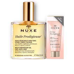 Kits e conjuntos cosmeticos HUILE PRODIGIEUSE HUILE SECHE MULTI-FONCTIONS LOTE Nuxe