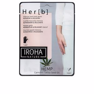 Hand cream & treatments CANNABIS hand & nail mask glove repairing & relaxing Iroha Nature