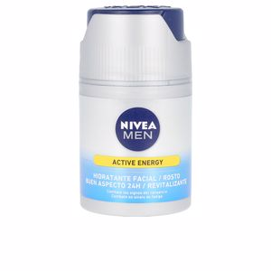Face moisturizer - Antifatigue facial treatment MEN SKIN ENERGY crema hidratante Q10 Nivea