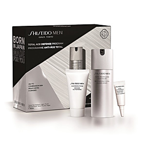 Set cosmétique pour le visage MEN TOTAL REVITALIZER LIGHT FLUID COFFRET Shiseido