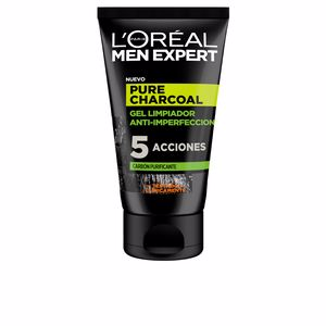 Facial cleanser MEN EXPERT pure charcoal gel limpiador purificante L'Oréal París