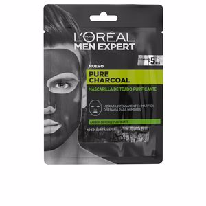 Face mask - Matifying Treatment Cream MEN EXPERT pure charcoal mascarilla tejido purificante L'Oréal París