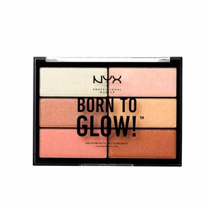Highlighter makeup BORN TO GLOW highlighting palette Nyx