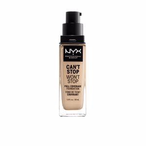 Base de maquillaje CAN´T STOP WON´T STOP full coverage foundation Nyx Professional Makeup