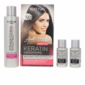 Set peluquería KERATIN ANTI-FRIZZ alisado sin plancha xtrem care 30 días Kativa