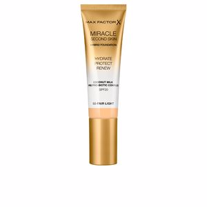 Fondation de maquillage MIRACLE TOUCH second skin hybrid foundation SPF20 Max Factor