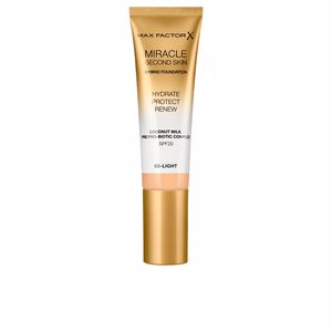 Foundation makeup MIRACLE TOUCH second skin hybrid foundation SPF20 Max Factor