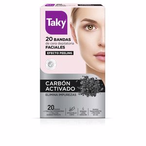 Hair removal wax CARBON ACTIVADO bandas cera faciales depilatorias Taky