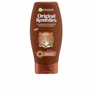 Hair straightening products ORIGINAL REMEDIES acondicionador aceite coco y cacao Garnier
