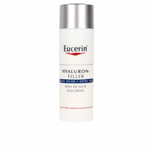 Anti aging cream & anti wrinkle treatment - Face moisturizer HYALURON-FILLER crema día extra rica Eucerin