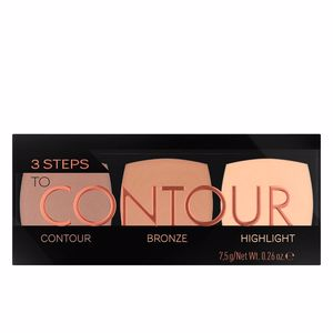 Highlighter makeup - Bronzing powder 3 STEPS TO CONTOUR palette Catrice