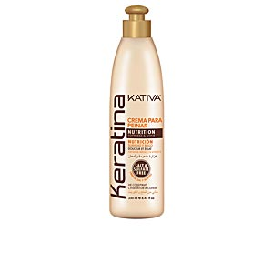 Keratin hair conditioner KERATINA crema para peinar nutrition Kativa
