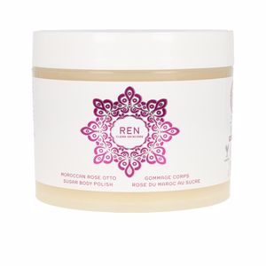 Body exfoliator MOROCCAN ROSE OTTO sugar body polish Ren Clean Skincare