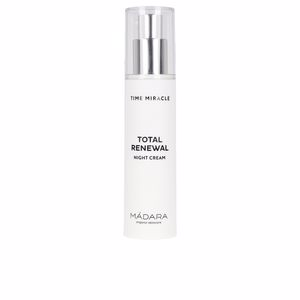 Face moisturizer TIME MIRACLE total renewal night cream Mádara Organic Skincare