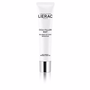 Anti aging cream & anti wrinkle treatment - Matifying Treatment Cream CICA-FILLER MAT gel-crème anti-rides réparateur Lierac