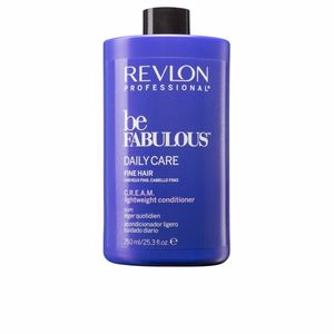 Shiny hair products BE FABULOUS daily care fine hair cream conditioner Revlon