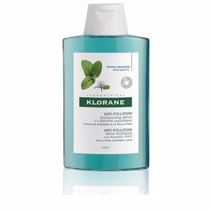 Shampoo for shiny hair ANTI-POLLUTION detox shampoo with aquatic mint Klorane