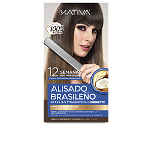Hair straightening treatment KATIVA ALISADO BRASILENO PRO DARK SET Kativa