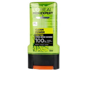 Champú purificante - Gel de baño - Limpiador facial MEN EXPERT gel ducha clean power L'Oréal París