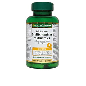 Minerals and trace elements FULL SPECTRUM multivitaminas & minerales Nature's Bounty