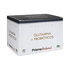 Glutamin, BCAAS, verzweigt PREMIUM glutamina + probióticos Prisma Natural