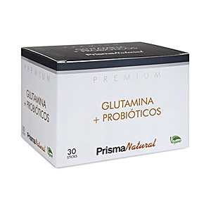 Glutammina, BCAAS, ramificata PREMIUM glutamina + probióticos Prisma Natural