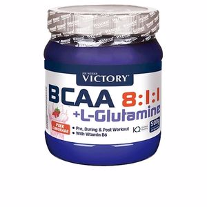 Glutamina, BCAAS, ramificado BCAA 8:1:1 + L-GLUTAMINE pre,during, post-workout naranja Victory