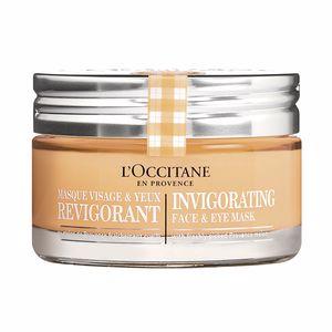 Tratamiento Facial Hidratante - Tratamiento Facial Antifatiga - Anti ojeras y bolsas de ojos INFUSION Mascarilla Rostro & Ojos Revitalizante L'Occitane