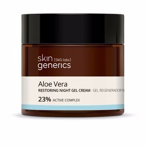 Face moisturizer - Antioxidant treatment cream ALOE VERA gel regenerador noche 23% Skin Generics