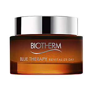 Face moisturizer - Anti aging cream & anti wrinkle treatment - Flash effect BLUE THERAPY amber algae revitalize day cream Biotherm