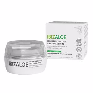 Face moisturizer IBIZALOE hidratante activa piel grasa SPF 15 Ibizaloe