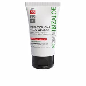 Faciales IBIZALOE protección solar facial SPF50 Ibizaloe