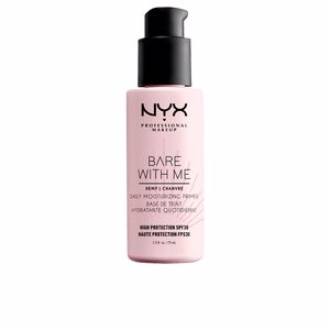 Fond de teint maquillage BARE WITH ME hemp daily moisturizing primer SPF30 Nyx