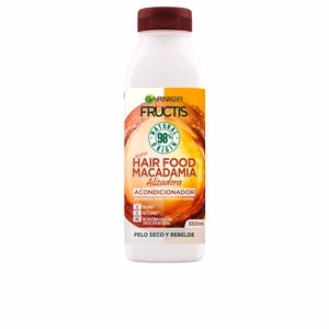Detangling conditioner - Hair straightening products FRUCTIS HAIR FOOD macadamia suavizante alisador Garnier