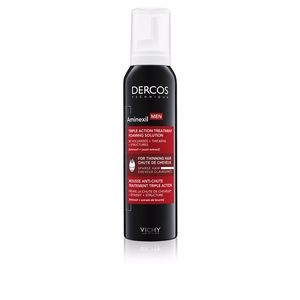 Tratamiento anticaída DERCOS MEN MOUSSE ANTI-CHUTE traitement triple action Vichy