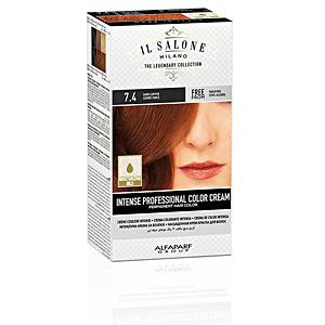 Tintes INTENSE PROFESSIONAL COLOR CREAM permanent hair color #7.4 Il Salone Milano