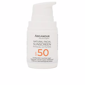 Faciais NATURAL&ORGANIC facial sunscreen SPF50 Arganour