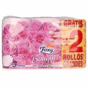 Papel higiénico BOUQUET papel higiénico color & perfume 3 capas Foxy
